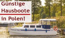 Hausboot Masuren günstig mieten!