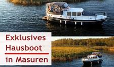 Hausboot in Masuren auf der Masurischen Seenplatte exklusiv mieten!