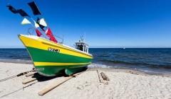 Ostseeurlaub Boot auf dem Strand