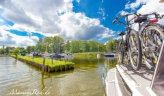 Hausboot und Rad Masuren