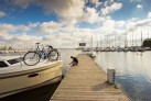Hausboot und Rad in Masuren
