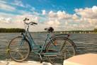 Fahrrad auf dem Boot- Masuren