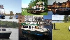 Hausboote Polen Weichsel Werder Oberlandkanal