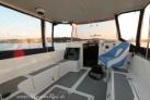 Cockpit und Bimini- Schutz vor dem Regen auf dem hausboot Calipso 750 in Masuren