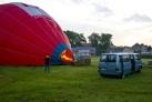 Vor der Baloonfahrt -in Masuren