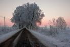 Strasse nach Kruglanken im Winter