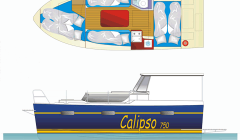 Masuren Hausboot Calipso Grundriss