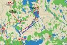 Masurische Seenplatte in 8 Tagen - eine Karte von Ihrer Radreise in Masuren