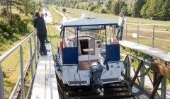 Oberland Kanal mit dem Hausboot