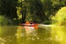Paddeln auf dem Fluss in Masuren