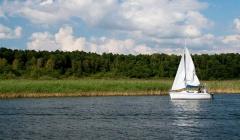 Masurische Seenplatte Segelboot