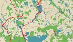 Individuelle Radreise in Masuren Karte