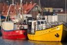 Ostsee Urlaub -Fischer Schiffe in Leba