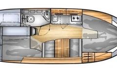 Balt 818 tytan Hausboot Polen Masuren