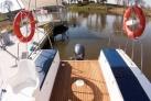 Weichsel Werder Cockpit des Hausbootes